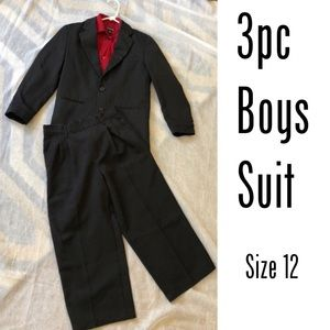 Other - Boys black suit and red shirt
